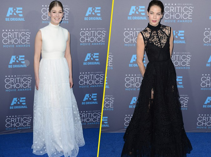 Photos : Critic's Movie Awards : Rosamund Pike et Michelle Monaghan : êtes-vous ange ou démon ?