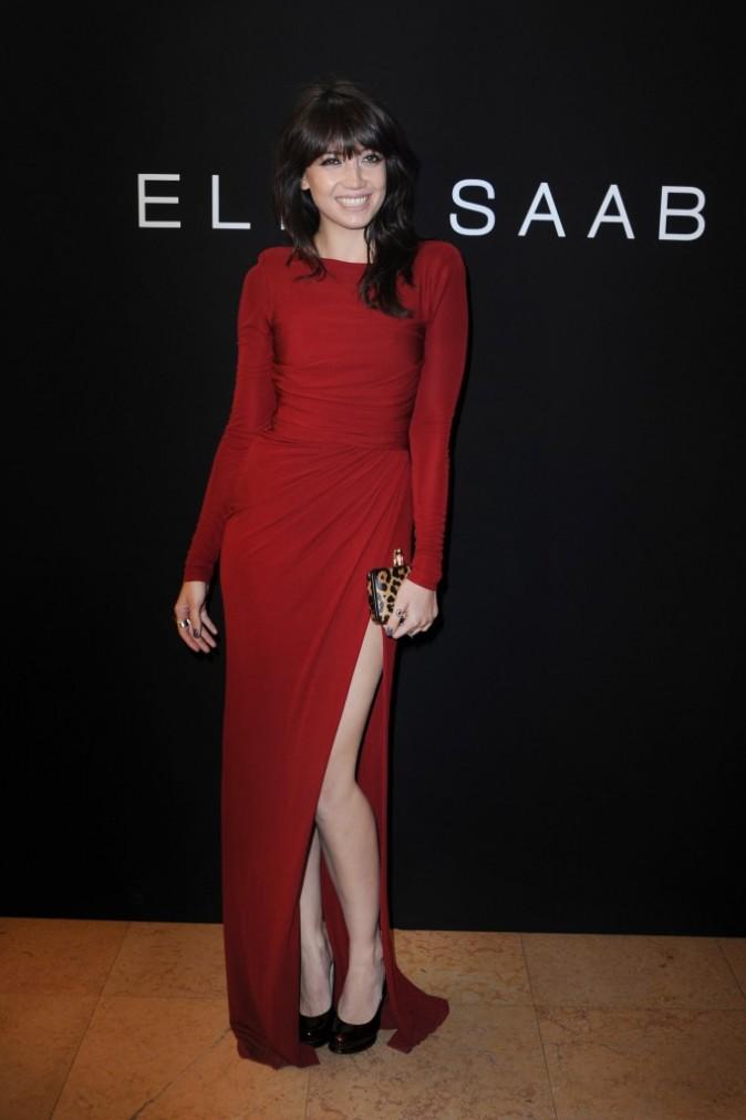 Daisy Lowe lors du défilé Elie Saab à Paris, le 6 juillet 2011.