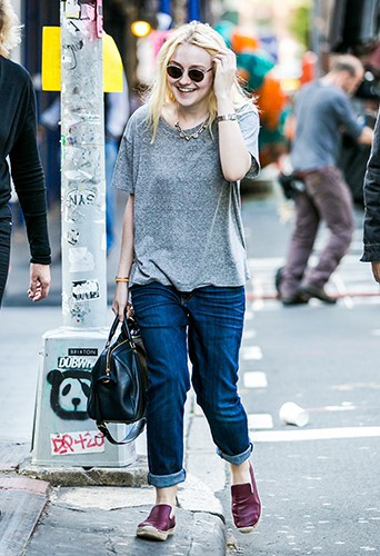 Dakota Fanning et Jamie Strachan à New-York le 18 octobre 2013