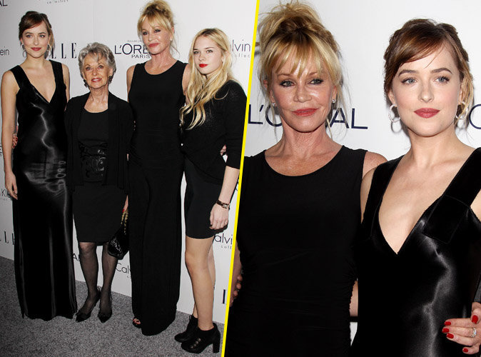 La famille Griffith lors des ELLE Women Awards le 19 octobre 2015