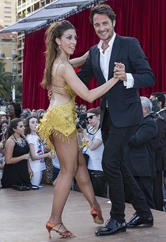 Silvia Notargiacomo et Vincent Cerutti à Monte-Carlo le 8 juin 2014
