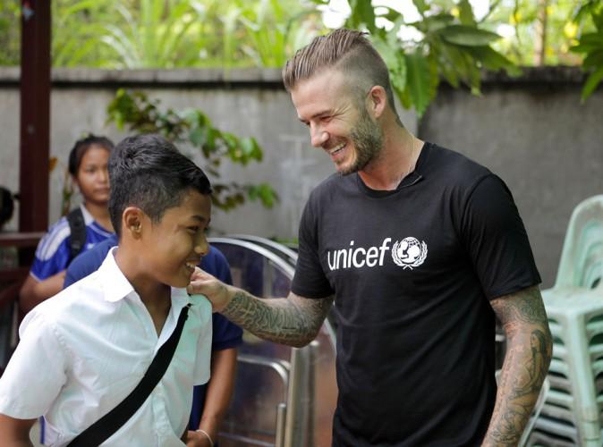 David Beckham redonne le sourire aux petites victimes de violences !