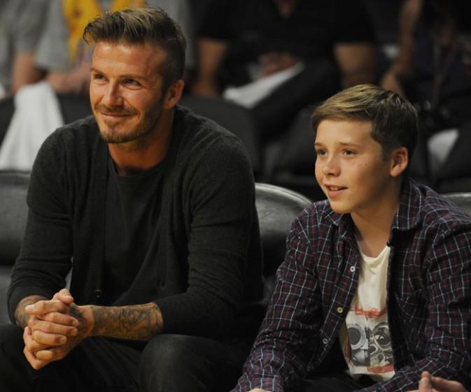 David Beckham et son fils aîné, Brooklyn, s'offrent un tête à tête sportif