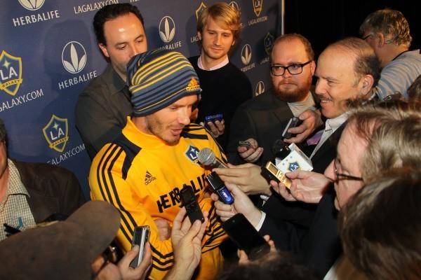 David Beckham, Los Angeles, 21 novembre 2012.