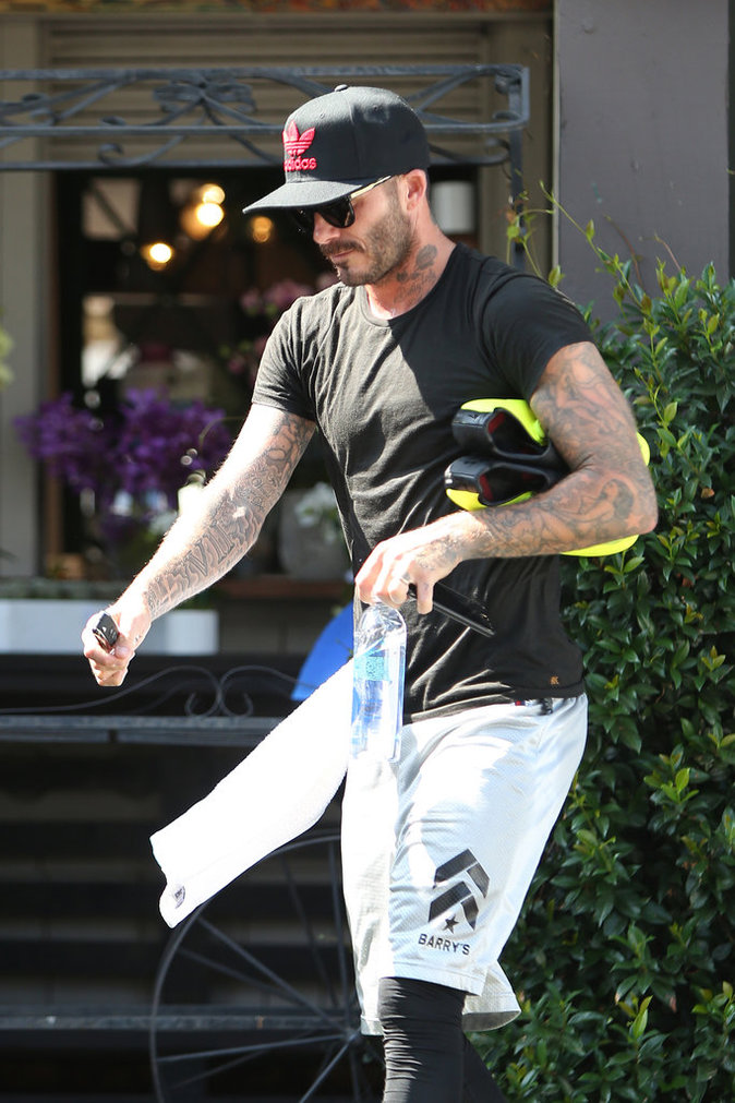 David Beckham : en mode ténébreux-sexy après sa séance de sport !