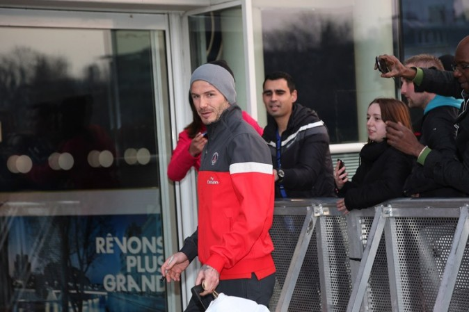 David Beckham au Parc des Princes, à Paris, le 28 mars 2013
