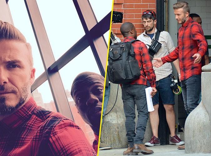David Beckham et Kevin Hart le 5 juillet 2015