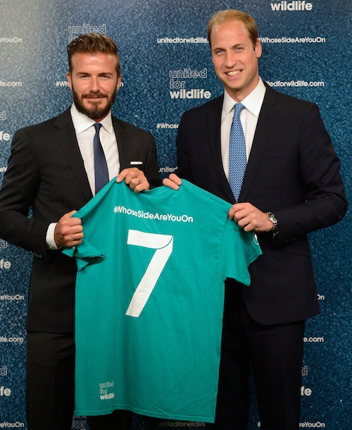 Photos : David Beckham et le prince William : deux potes unis pour la bonne cause !