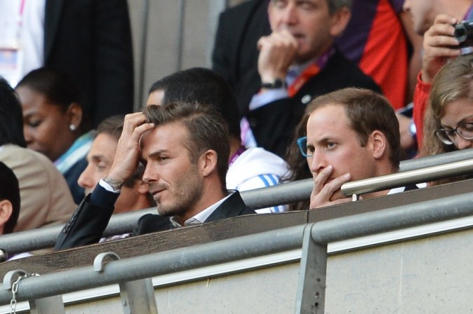 David Beckham et le Prince William le 28 juillet 2012 à Londres