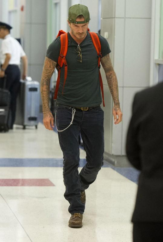 David Beckham arrive à New York pour la Fashion Week