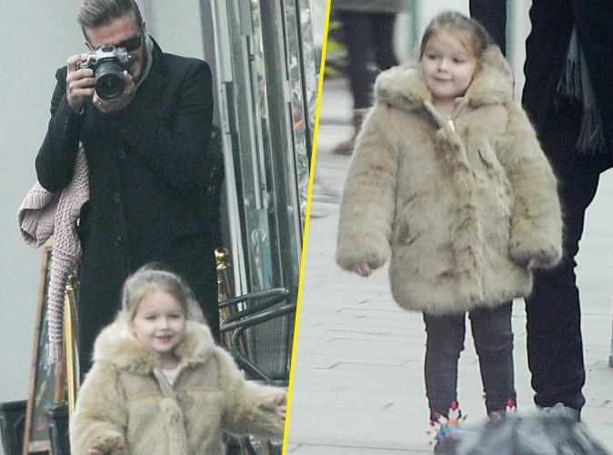 David Beckham : gaga de son adorable Harper, il la shoote en pleine rue !