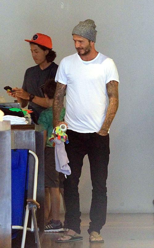 David Beckham : incorrigible papa poule !