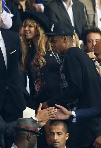 David Beckham, Jay-Z, Beyonc� : retrouvailles entre potes pour PSG-Barcelone !