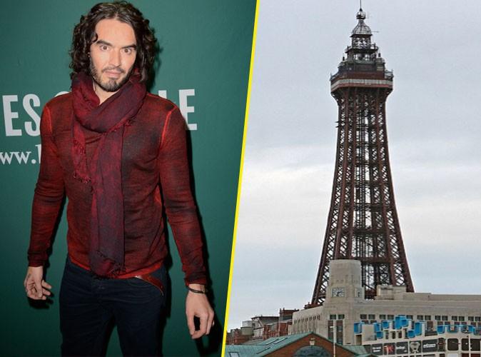 L'humoriste anglais Russell Brand comparé au Blackpool Towers