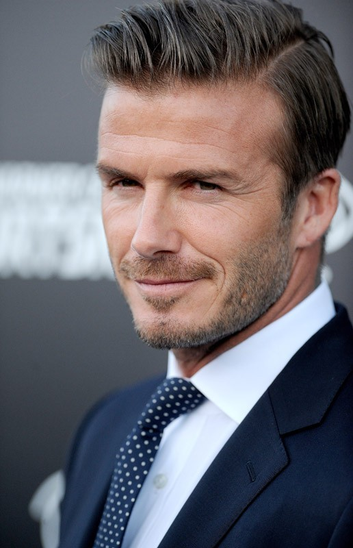David Beckham à Los Angeles pour le lancement d'une chaîne sportive