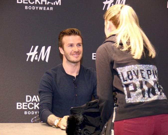 David Beckham en promotion pour H&M à Berlin le 19 mars 2013