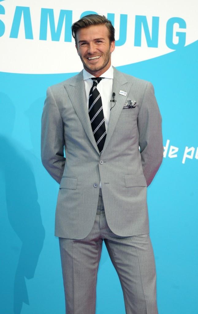 David Beckham lors de la conférence de presse pour les J.O de Londres 2012, le 13 juin 2011 à Londres.