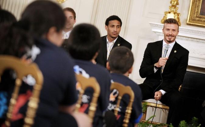 David Beckham le 15 mai 2012 à la Maison Blanche