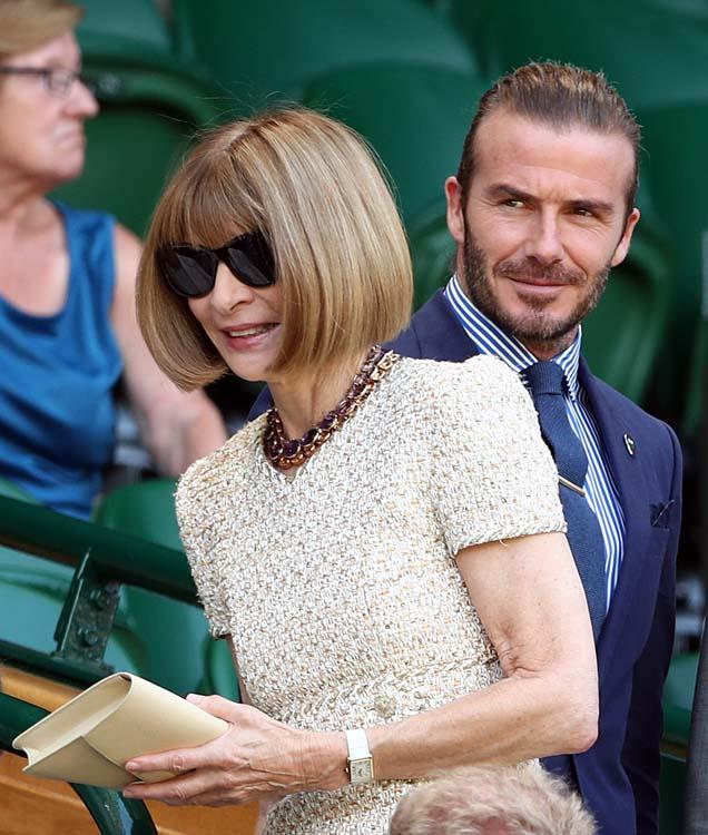 David Beckham rencontre Anna Wintour... sans sa femme Victoria !