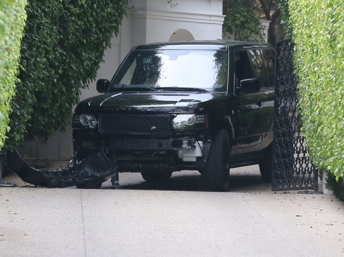 L'accident provoqué par David Beckham à Beverly Hills le 26 octobre 2013