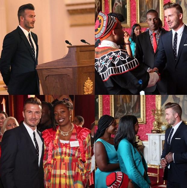 Photos : David Beckham sexy et bien sage aux côtés d'Elizabeth II !