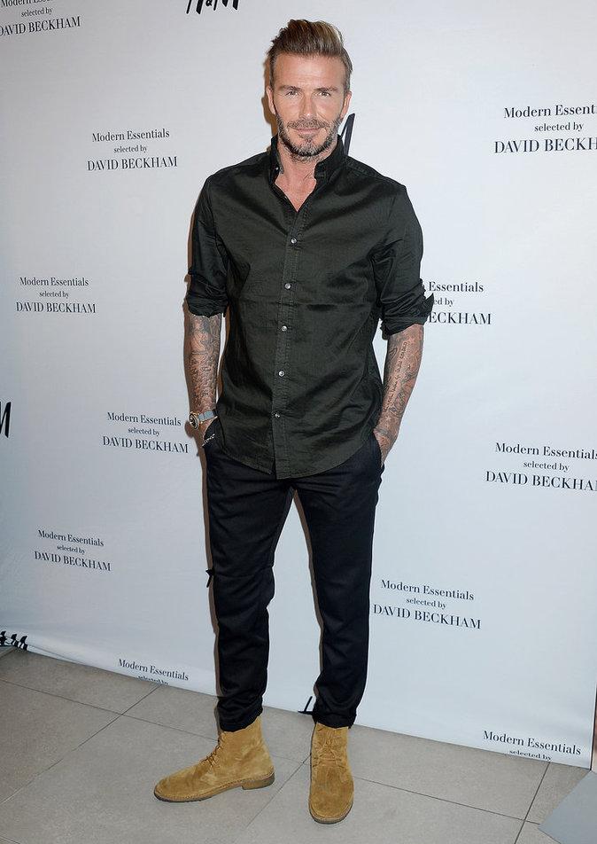 David Beckham : souriant et stylé pour le lancement de la nouvelle collection H&M