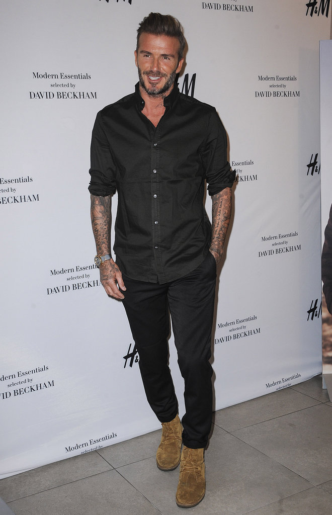 David Beckham fait la promotion de la nouvelle collection H&M