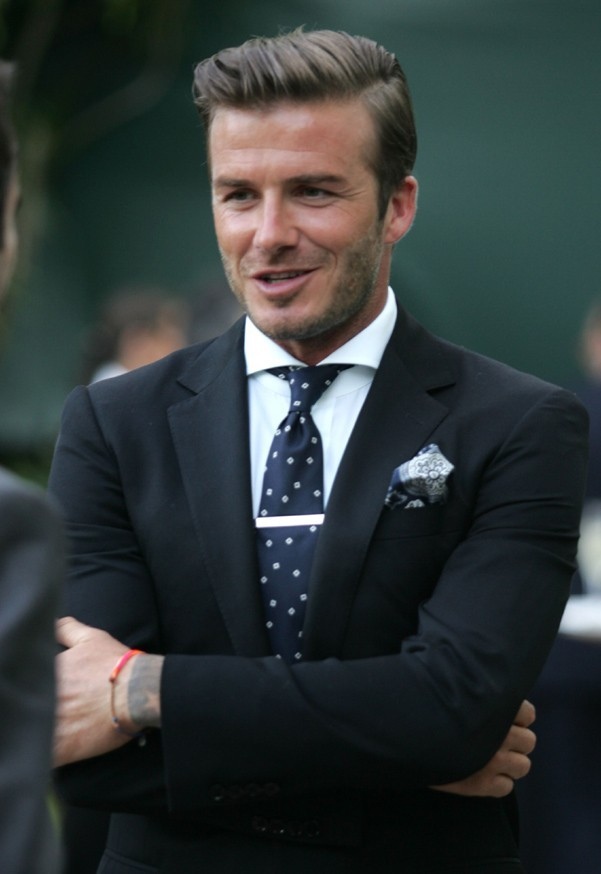 David Beckham l'a joué classique et chic !