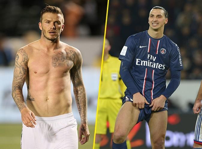 Le glamour sur la pelouse : les pectoraux de David VS le mini-short de Zlatan. Est-ce vraiment nécessaire d'en discuter ? Le point va à David !