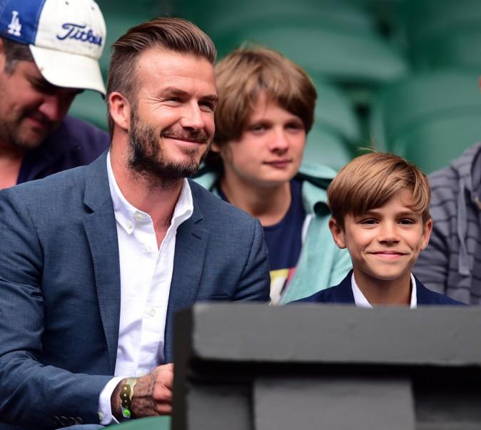 David et Roméo Beckham partagent un moment père-fils à Wimbledon !