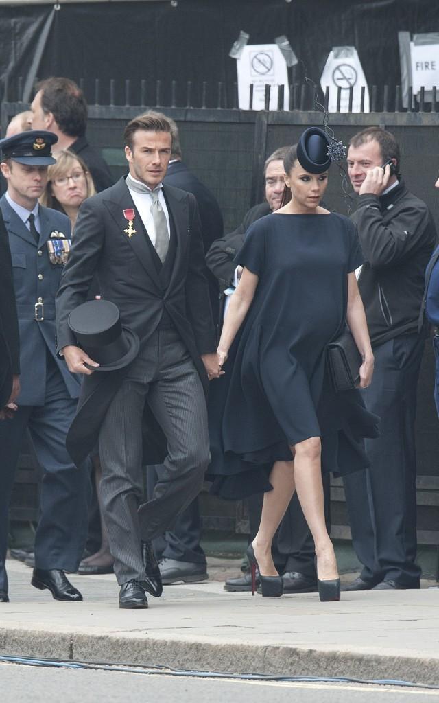 Victoria et David Beckham au mariage de Kate Middleton et du prince William à Londres, le 29 avril 2011.