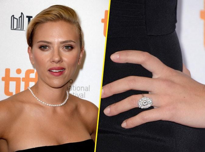La belle et grosse bague de fiançailles de Scarlett Johansson !