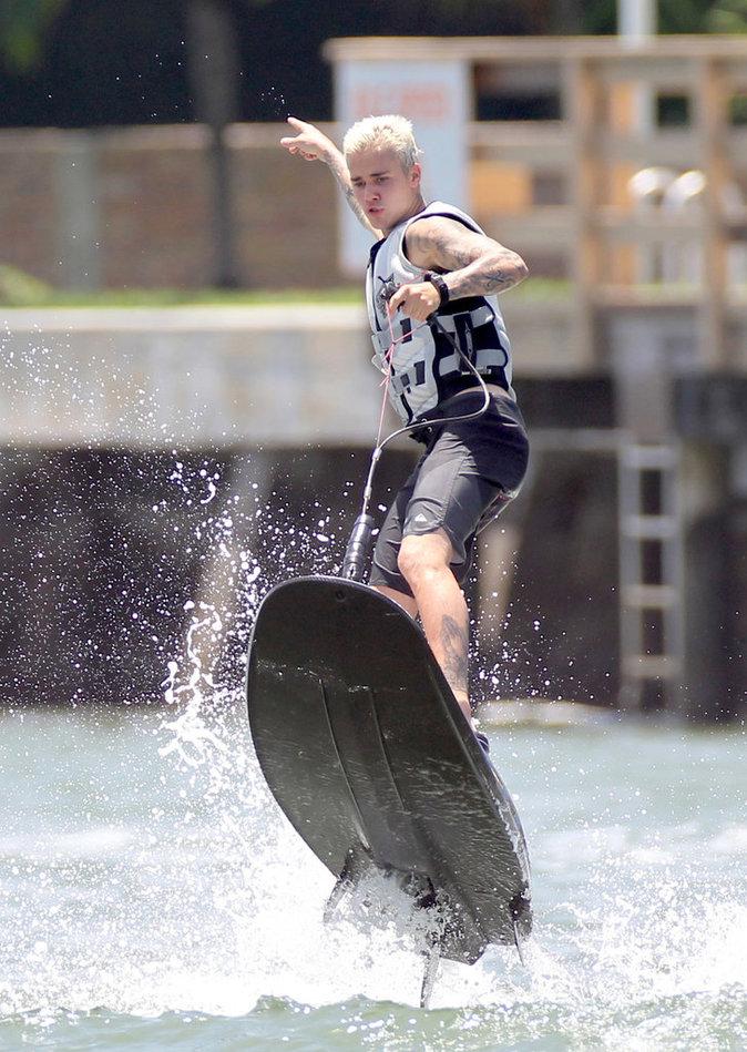 Justin Bieber à Miami le 5 juillet 2016