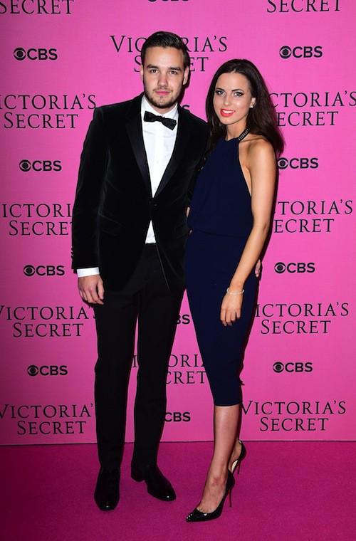 Liam Payne et Sophia Smith avant le défilé Victoria's Secret 2014, le 2 décembre