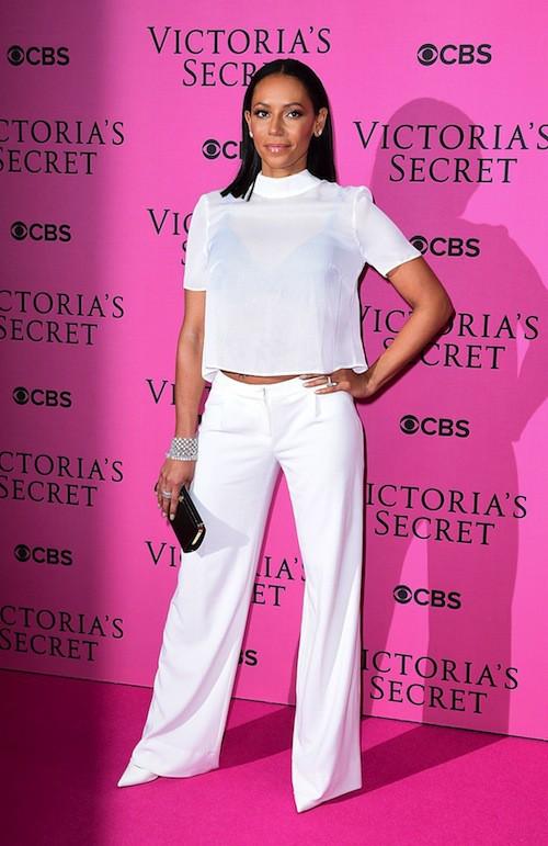 Mel B avant le défilé Victoria's Secret 2014, le 2 décembre