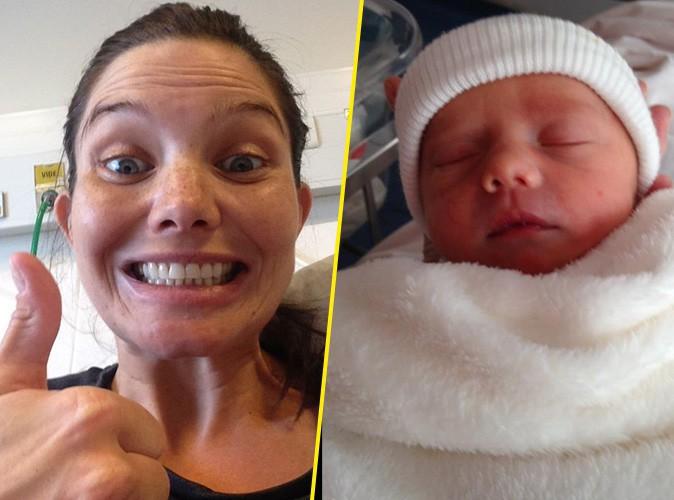 Photos : Delphine Chanéac maman pour la première fois... L'actrice vous présente son adorable fils !