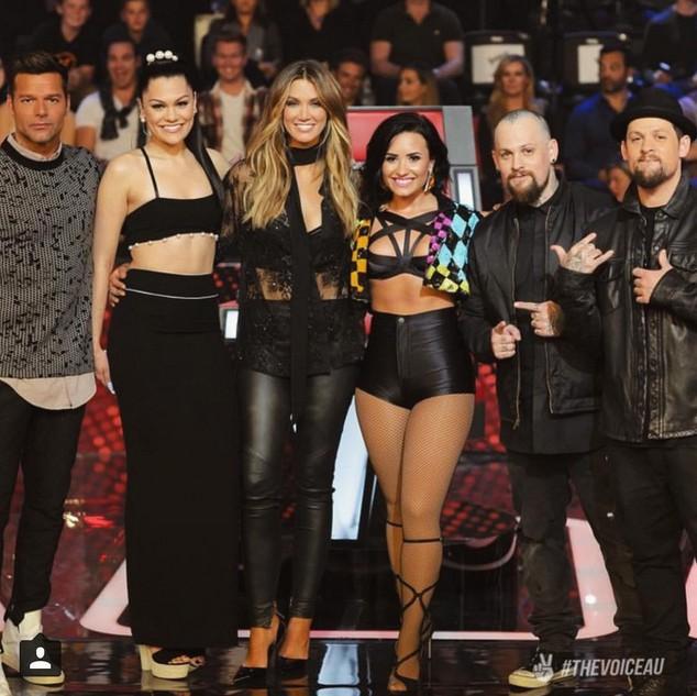 Demi Lovato sur le plateau de The Voice en Australie