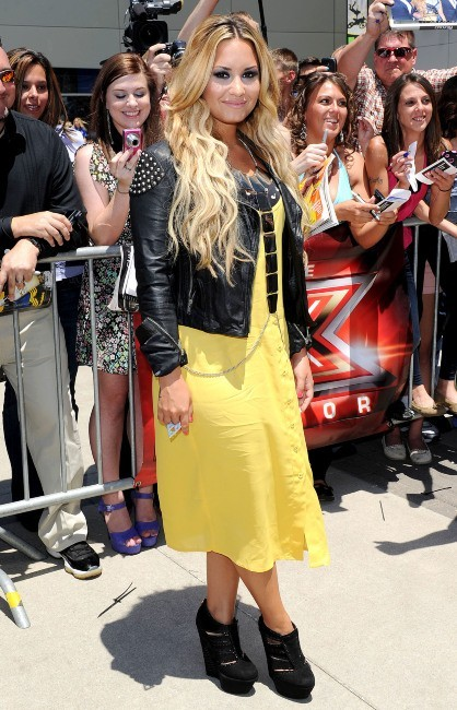 Demi Lovato lors des auditions du X-Factor US à Kansas City, le 8 juin 2012.