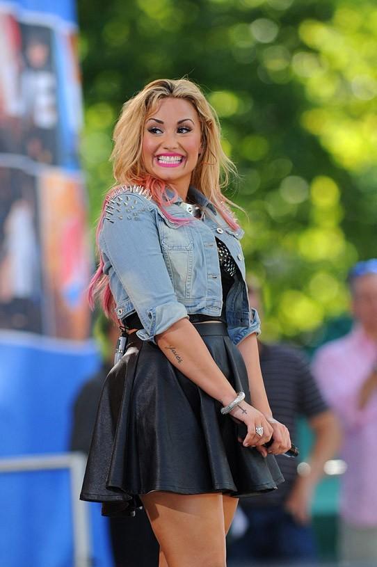 Demi Lovato en concert à Central Park le 6 juillet 2012