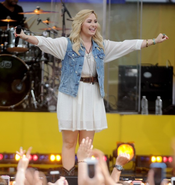 Demi Lovato en concert à New-York pour Good Morning America le 28 juin 2013