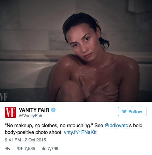 Demi Lovato pour Vanity Fair
