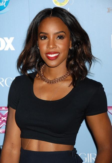 """Kelly Rowland lors d'un événement """"X Factor"""" à Los Angeles, le 4 novembre 2013."""