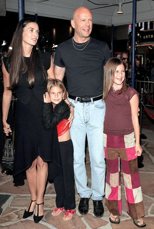 En famille, avec Bruce Willis, elle n'avait pas encore de problèmes de poids