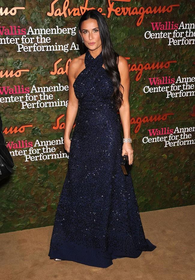 Demi Moore sur le tapis rouge du Wallis Annenberg Center for the Performing Arts Gala à Beverly Hills le 17 octobre 2013