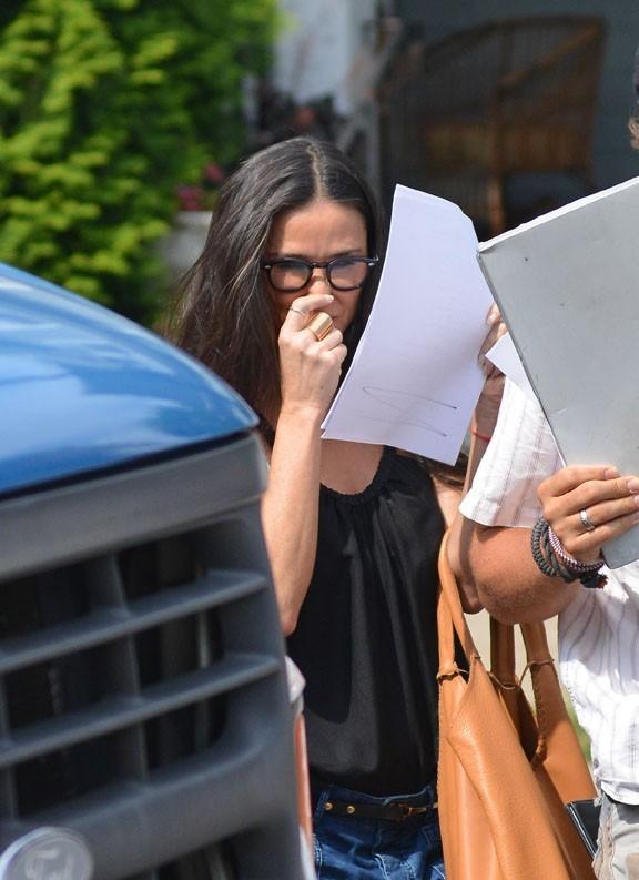 Demi Moore sur le tournage de Very Good Girls le 9 juillet 2012