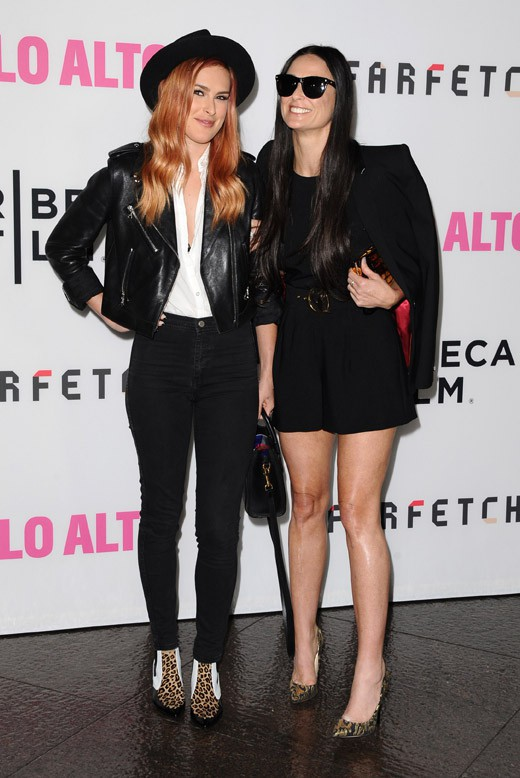 Rumer Willis et Demi Moore à l'avant-première de Palto Alto organisée à Los Angeles le 5 mai 2014