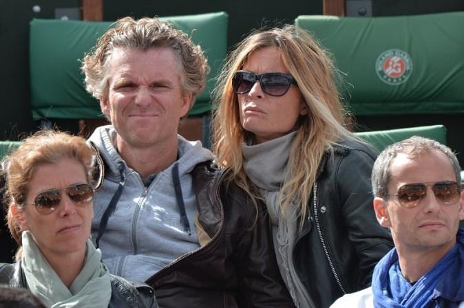 Denis Brogniart et sa femme, Paris - Roland Garros, 29 mai 2013.