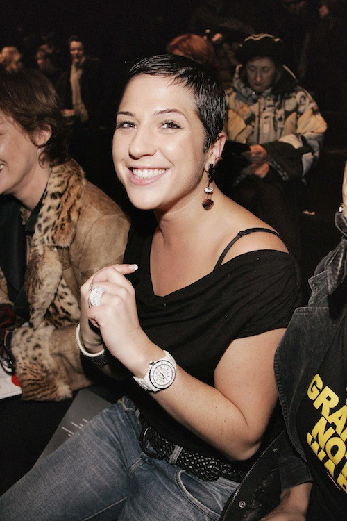 Diam's sur le front row du défilé automne-hiver 2006-2007 Sonia Rykiel