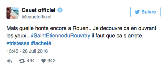 Les réactions des stars au meurtre d'un prêtre à Saint-Étienne-du-Rouvray