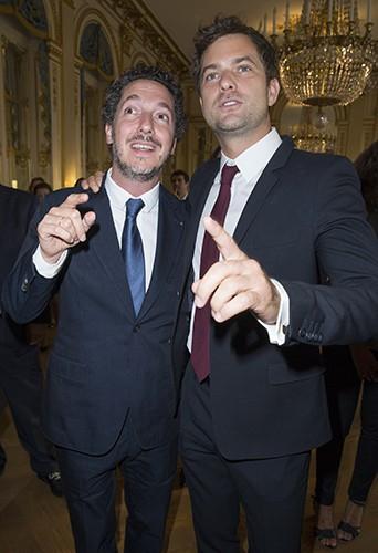 Guillaume Gallienne et Joshua Jackson à Paris le 22 septembre 2014